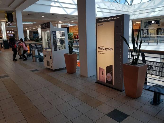 Mobiltöltőállomáson a SAMSUNG GALAXY S9+: Miskolc Pláza
