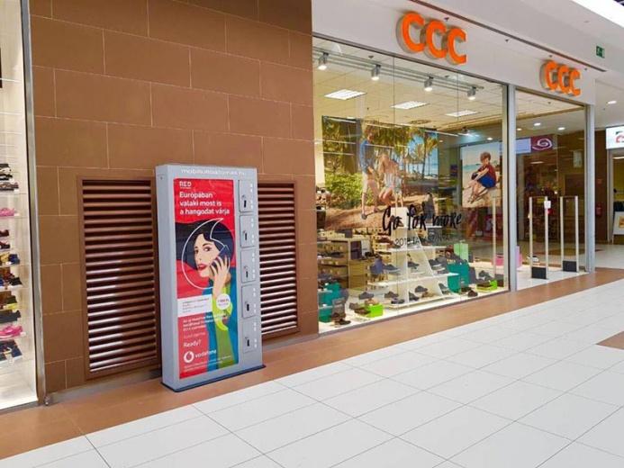 Mobiltöltőállomás az Auchan áruházaiban: Auchan mobiltöltőállomás 04